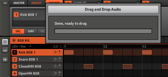 Drag and Drop Audio