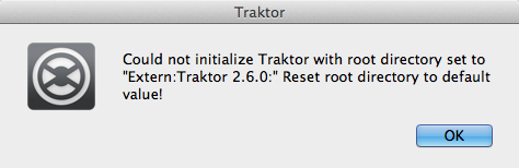 Could not initialize Traktor
