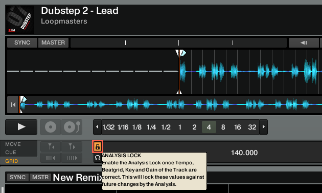 Lock Beatgrid Panel