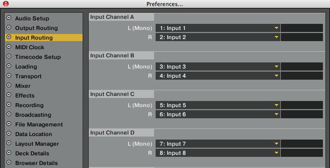 input routing audio 8