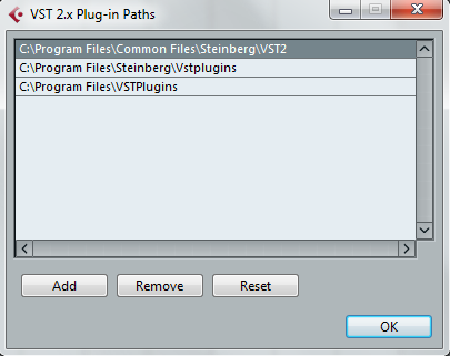 Plug-in Administration in Cubase 7 and Previous Versions