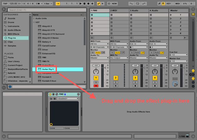 How to Insert Native Instruments Plug-ins in Ableton Live 9
