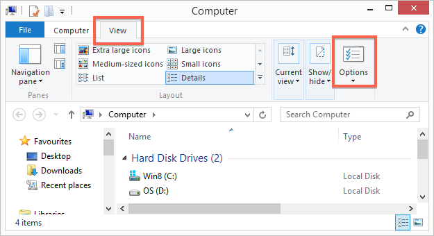 how to show hide folder in windows 10