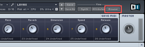 load absynth presets