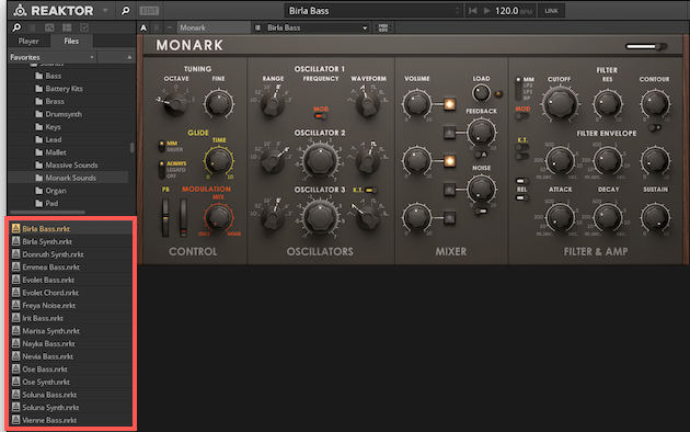 Monark_Presets_in_Browser.png
