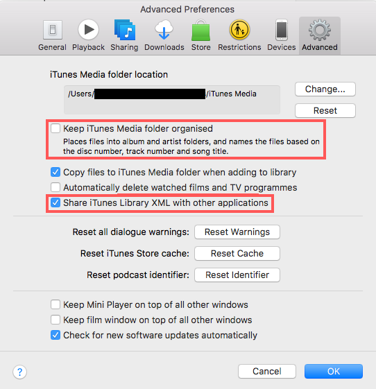 How to import music folders into itunes library