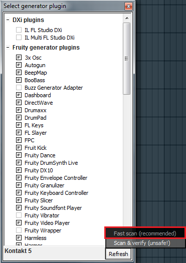 Plug-in Administration in FL Studio 11 (or Earlier Versions