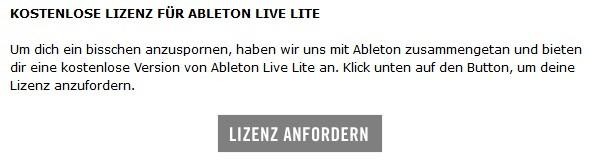 Wo finde ich meine Seriennummer für Ableton Live Lite